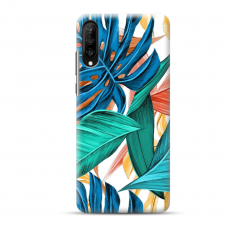 "Samsung Galaxy A50 TPU dėklas unikaliu dizainu 1.0 mm ""u-case Airskin Leaves design"""