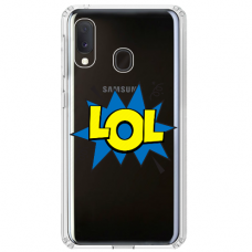 """Samsung Galaxy A40 TPU dėklas unikaliu dizainu 1.0 mm """"u-case Airskin LOL design"""""""