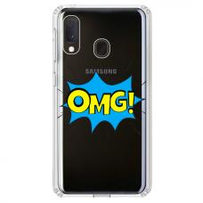 """Samsung Galaxy A20e TPU dėklas unikaliu dizainu 1.0 mm """"u-case Airskin OMG design"""""""