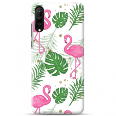 "Samsung Galaxy A50 TPU dėklas unikaliu dizainu 1.0 mm ""u-case airskin Flamingos design"""