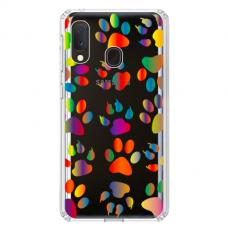 """Samsung Galaxy A40 TPU dėklas unikaliu dizainu 1.0 mm """"u-case Airskin PAW design"""""""