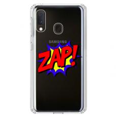 """Samsung Galaxy A40 TPU dėklas unikaliu dizainu 1.0 mm """"u-case airskin ZAP design"""""""