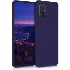 Samsung galaxy A51 dėklas Liquid Silicone tamsiai mėlynas