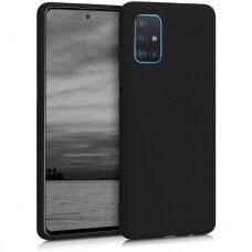 Samsung galaxy A51 dėklas Liquid Silicone juodas