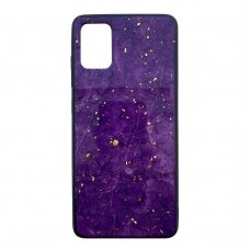 Akcija! Samsung galaxy A51 dėklas Marble violetinis