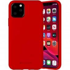 iphone 12 pro dėklas MERCURY SILICONE raudonas