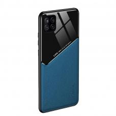 Samsung Galaxy A22 5G dėklas su įmontuota metaline plokštele LENS case mėlynas