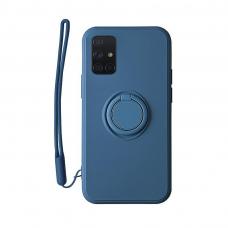 Samsung Galaxy a51 dėklas su magnetu Pastel Ring Mėlynas