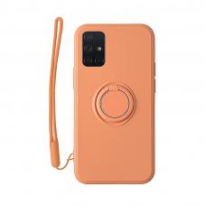 Samsung Galaxy a51 dėklas su magnetu Pastel Ring Oranžinis