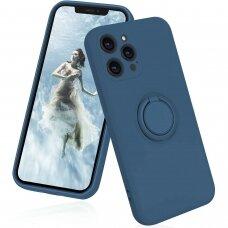 iphone 13 pro dėklas su magnetu Finger Ring Mėlynas