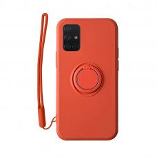 Samsung Galaxy a51 dėklas su magnetu Pastel Ring Raudonas
