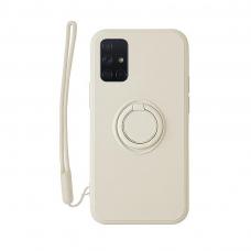 Samsung Galaxy a51 dėklas su magnetu Pastel Ring Baltas