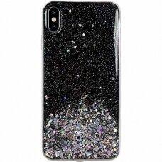 Akcija! samsung galaxy a51 dėklas Wozinsky Star Glitter juodas