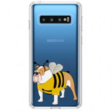 """Samsung Galaxy S10 Plus TPU dėklas unikaliu dizainu 1.0 mm """"u-case Airskin Doggo 1 design"""""""