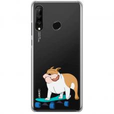 "Huawei P30 Lite TPU dėklas unikaliu dizainu 1.0 mm ""u-case Airskin Doggo 2 design"""