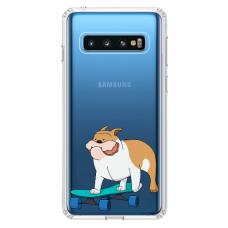 """Samsung Galaxy S10 Plus TPU dėklas unikaliu dizainu 1.0 mm """"u-case Airskin Doggo 2 design"""""""