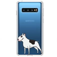 """Samsung Galaxy S10 Plus TPU dėklas unikaliu dizainu 1.0 mm """"u-case Airskin Doggo 3 design"""""""