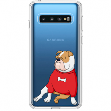"""Samsung Galaxy S10 Plus TPU dėklas unikaliu dizainu 1.0 mm """"u-case Airskin Doggo 5 design"""""""