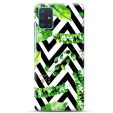 """Samsung Galaxy A71 TPU dėklas unikaliu dizainu 1.0 mm """"u-case Airskin Leaves 2 design"""""""