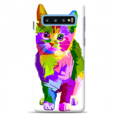 "Samsung Galaxy S10 Plus TPU dėklas unikaliu dizainu 1.0 mm ""u-case Airskin Kitty design"""