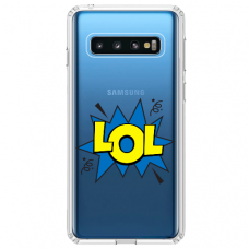 "Samsung Galaxy S10 Plus TPU dėklas unikaliu dizainu 1.0 mm ""u-case Airskin LOL design"""