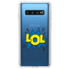 """Samsung Galaxy S10 TPU dėklas unikaliu dizainu 1.0 mm """"u-case Airskin LOL design"""""""