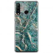 "Huawei P30 Lite TPU dėklas unikaliu dizainu 1.0 mm ""u-case Airskin Marble 1 design"""