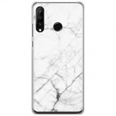 "Huawei P30 Lite TPU dėklas unikaliu dizainu 1.0 mm ""u-case Airskin Marble 6 design"""