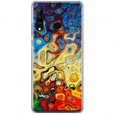 """Huawei P30 Lite TPU dėklas unikaliu dizainu 1.0 mm """"u-case Airskin Pattern 1 design"""""""