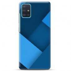 """Samsung Galaxy A51 TPU dėklas unikaliu dizainu 1.0 mm """"u-case Airskin Blue design"""""""