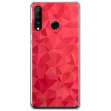 """Huawei P30 Lite TPU dėklas unikaliu dizainu 1.0 mm """"u-case Airskin Pattern 6 design"""""""