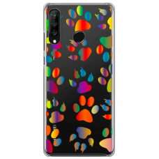 "Huawei P30 lite TPU dėklas unikaliu dizainu 1.0 mm ""u-case Airskin PAW design"""