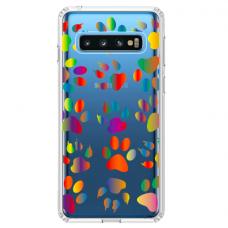 """Samsung Galaxy S10 Plus TPU dėklas unikaliu dizainu 1.0 mm """"u-case Airskin PAW design"""""""