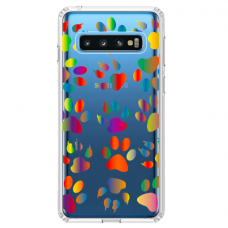 "Samsung Galaxy S10 TPU dėklas unikaliu dizainu 1.0 mm ""u-case Airskin PAW design"""