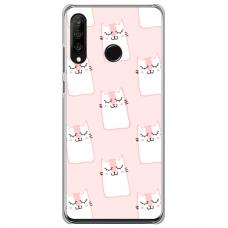 "Huawei P30 Lite TPU dėklas unikaliu dizainu 1.0 mm ""u-case Airskin Pink Kato design"""