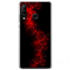 """Huawei P30 Lite TPU dėklas unikaliu dizainu 1.0 mm """"u-case Airskin Space 3 design"""""""