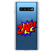 """Samsung Galaxy S10 Plus TPU dėklas unikaliu dizainu 1.0 mm """"u-case airskin ZAP design"""""""