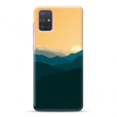 "Samsung Galaxy A51 TPU dėklas unikaliu dizainu 1.0 mm ""u-case Airskin Mountains 2 design"""