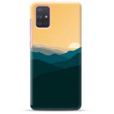 "Samsung Galaxy A52 TPU dėklas unikaliu dizainu 1.0 mm ""u-case Airskin Mountains 2 design"""