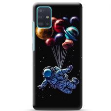 """Samsung Galaxy A52 TPU dėklas unikaliu dizainu 1.0 mm """"u-case Airskin Cosmo design''"""