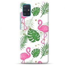 "Samsung Galaxy A72 TPU dėklas unikaliu dizainu 1.0 mm ""u-case Airskin Flamingos design"""