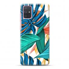 """Samsung Galaxy A51 TPU dėklas unikaliu dizainu 1.0 mm """"u-case Airskin Leaves 1 design"""""""