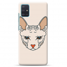 "Samsung Galaxy A51 TPU dėklas unikaliu dizainu 1.0 mm ""u-case Airskin Kato design"""