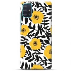 """Samsung Galaxy A51 TPU dėklas unikaliu dizainu 1.0 mm """"u-case Airskin Flowers 2 design"""""""