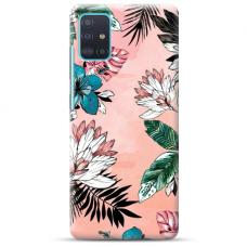 """Samsung Galaxy A51 TPU dėklas unikaliu dizainu 1.0 mm """"u-case Airskin Flowers 1 design"""""""