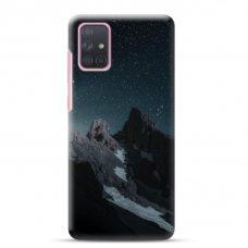"Samsung Galaxy A51 TPU dėklas unikaliu dizainu 1.0 mm ""u-case Airskin Mountains 1 design"""