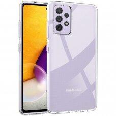 Akcija! Samsung galaxy a72 dėklas 3MK Clear TPU 1,2mm permatomas