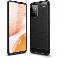 """Samsung galaxy A72 dėklas """"Carbon case"""" TPU juodas"""