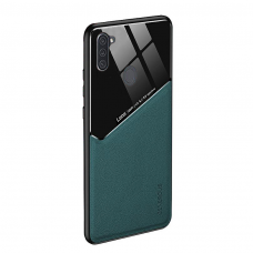 Samsung Galaxy A11 / M11 dėklas su įmontuota metaline plokštele LENS case Žalias