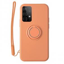 Samsung Galaxy a72 dėklas su magnetu Pastel Ring Oranžinis